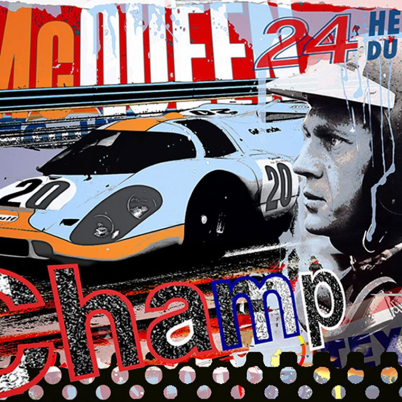burkhard lohren – racing legends – champ – 70 x 100 cm -2015