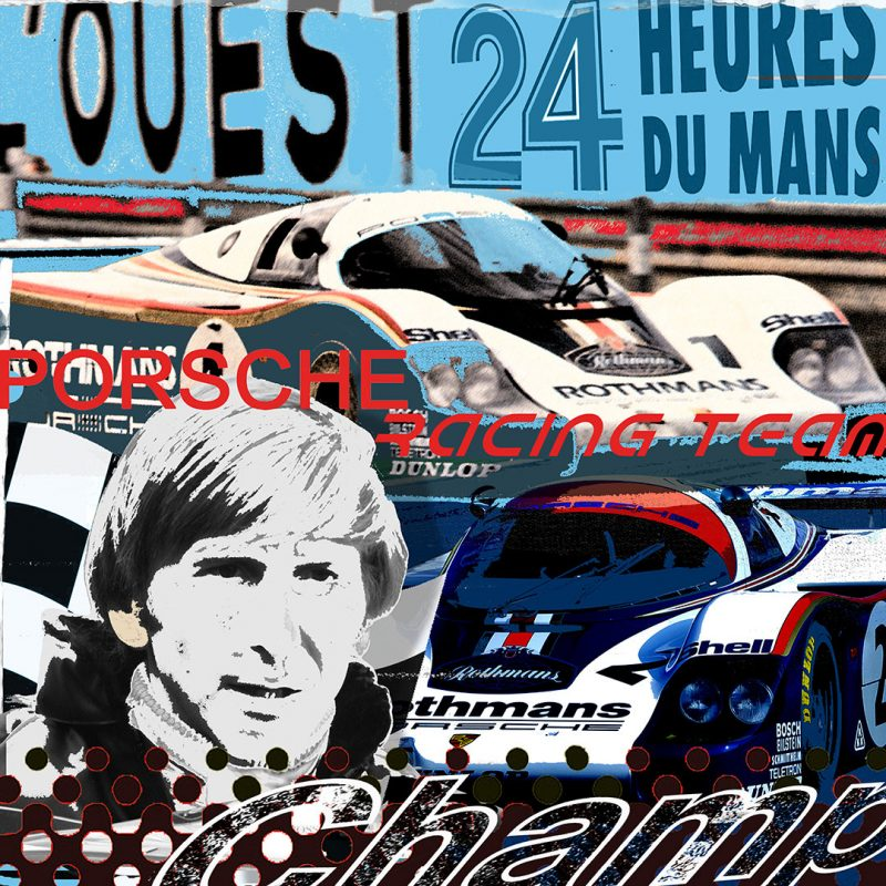 burkhard lohren – racing legends – dereck bell – 100 x 100 cm -2017