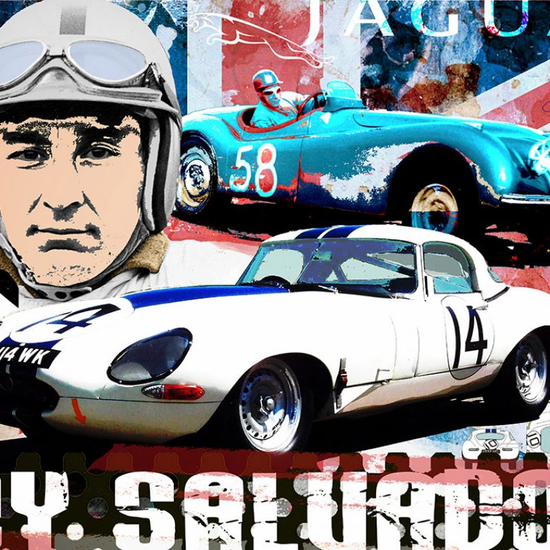 burkhard lohren – racing legends – roy salvadori – 70 x 100 cm – 2016