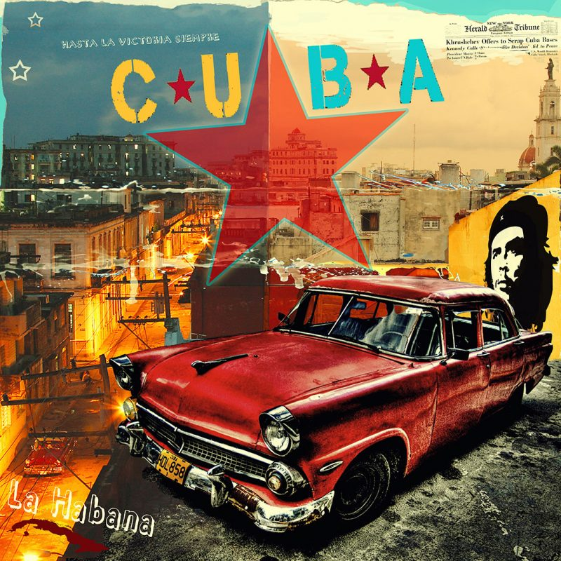 burkhard lohren – cubano style – la habana night and day – 100 x 100 cm – 2014
