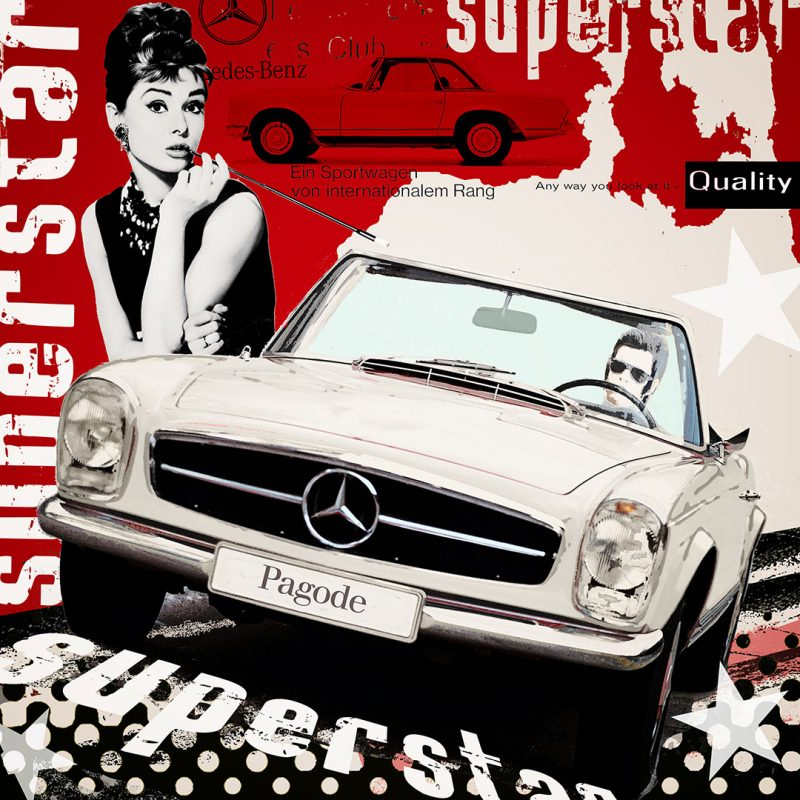 burkhard lohren – dream cars – superstar – 100 x 100 cm – 2016