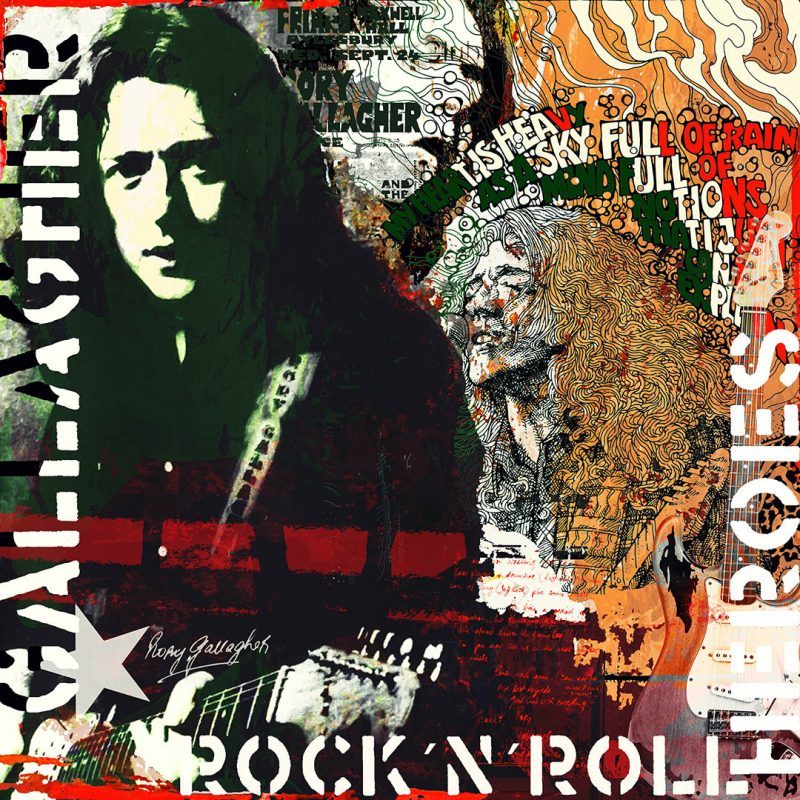 burkhard lohren – heroes -rory gallagher – 100 x 100 cm – 2017