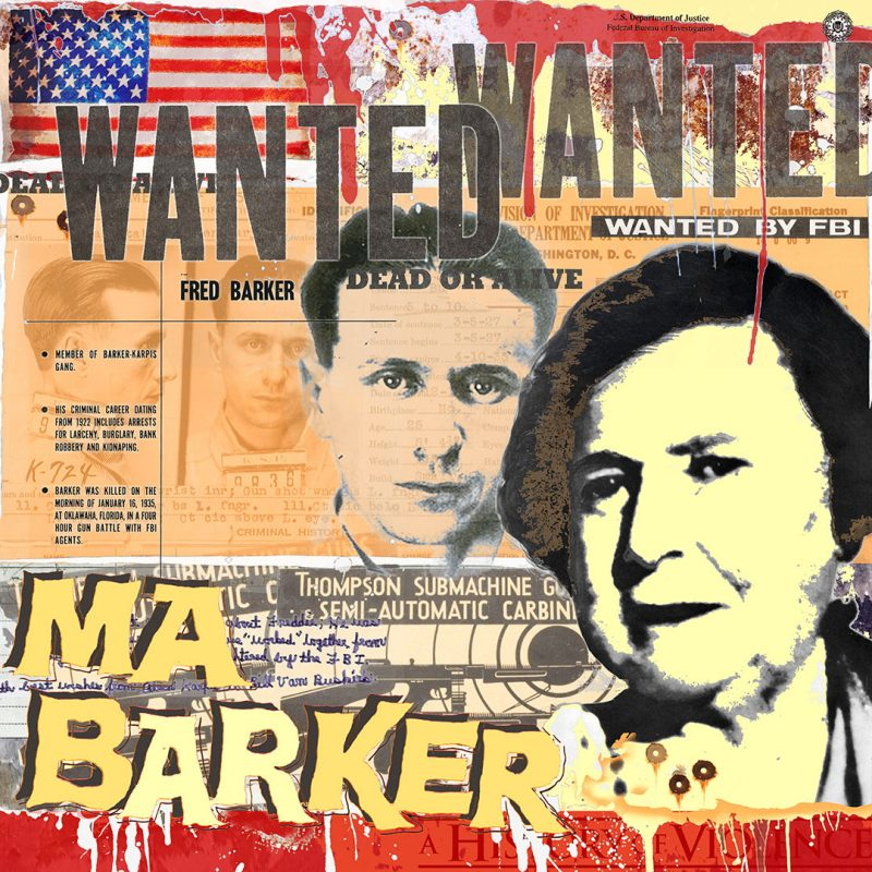 burkhard lohren – wanted – ma and fred barker vol. 1 – 100 x 100 cm – 2014