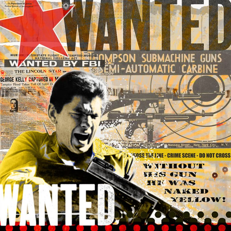 burkhard lohren – wanted – mashine gun kelly – 100 x 100 cm – 2017