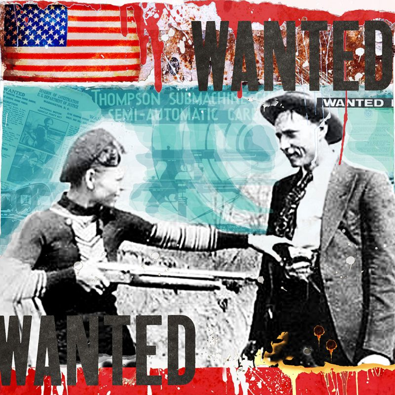 burkhard lohren – wanted – wanted bonnie and clyde vol. II – 100 x 100 cm – 2011